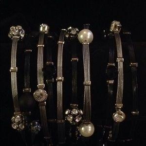 Cookie Lee Crystal & Glass Bracelets
